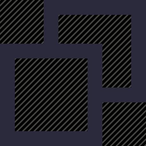 copy, design, duplicate, overlap, overlay, paste icon