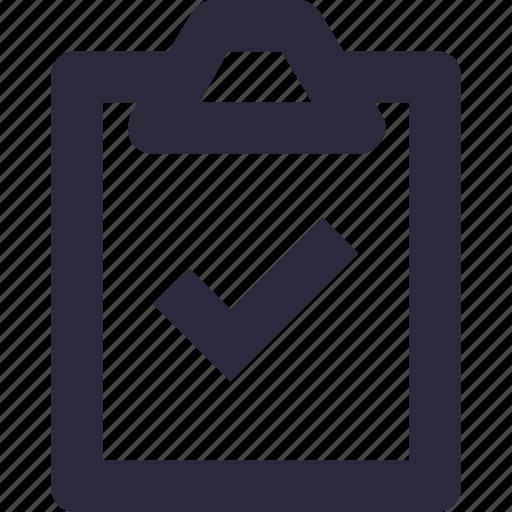 checklist, clipboard, list, task complete, to do icon