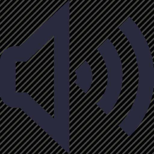 loudspeaker, sound, speaker, voice, volume icon