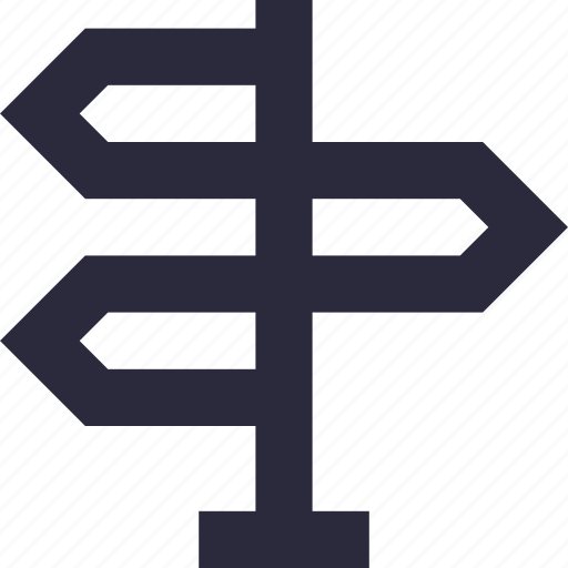 direction arrow, direction post, finger post, guidepost, signpost icon