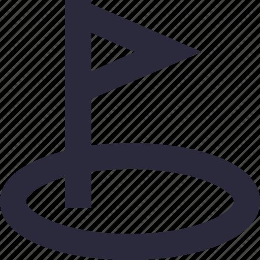 ensign, flag, golf flag, location flag, sports flag icon