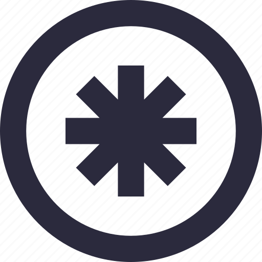 asterisk, math symbol, password, reference mark, typographical icon