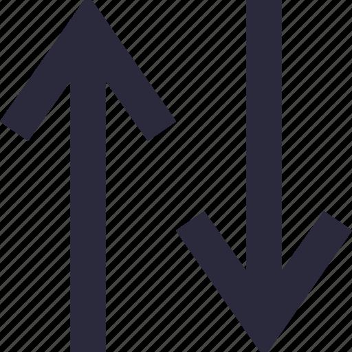 arrows, data share, directional, down arrow, up arrow icon