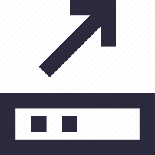 arrow, directional, navigational, up, upward icon