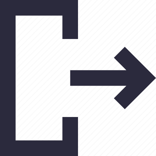 arrow, directional, exit, logout, sign out icon