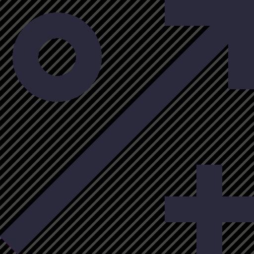 discount, growth percentage, math symbol, percentage, ratio icon