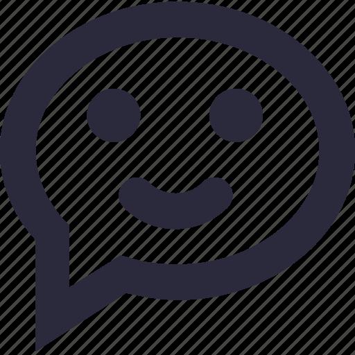 chat balloon, chat emoticon, chat smiley, emoji, speech balloon icon