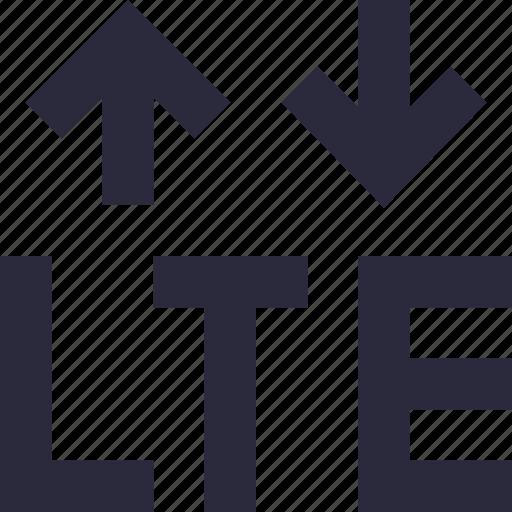 arrows, lte, mobile data, mobile network, network icon