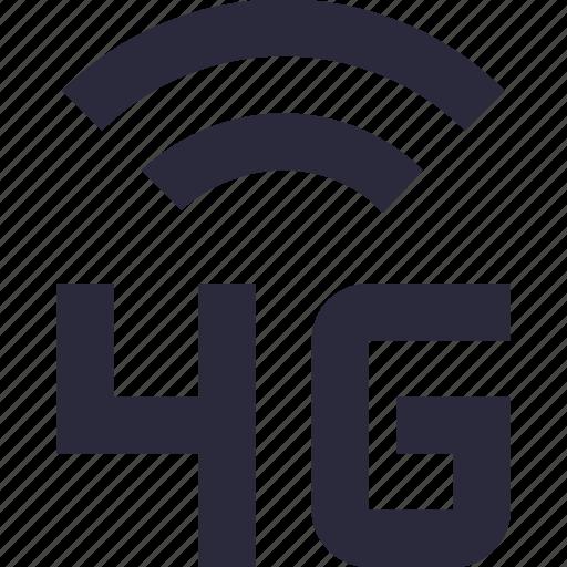 4g, mobile data, mobile internet, mobile network, technology icon