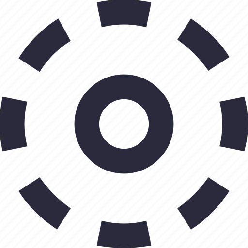 circle, dotted line, selection, shape, target icon