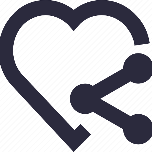 care, heart, peace, share love, share sign icon