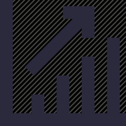 bar chart, graph, growth chart, infographics, progress chart icon