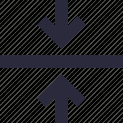 arrows, height, minimize, resize, shrink icon