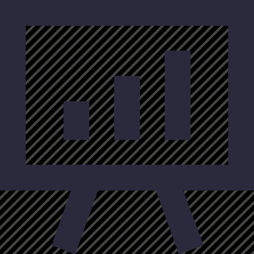 analytics, easel, flipchart, graph, presentation icon