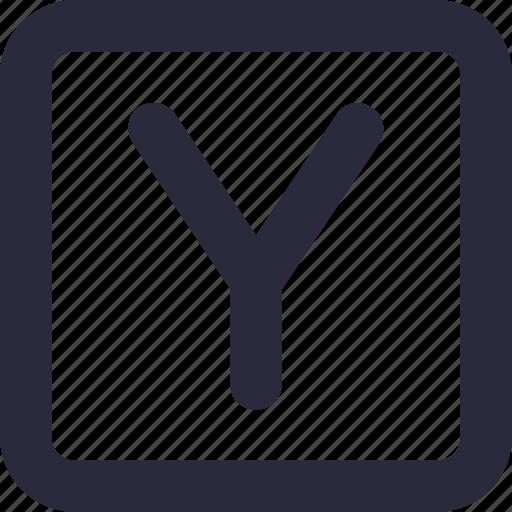alphabet, english, font, letter y, text, y icon