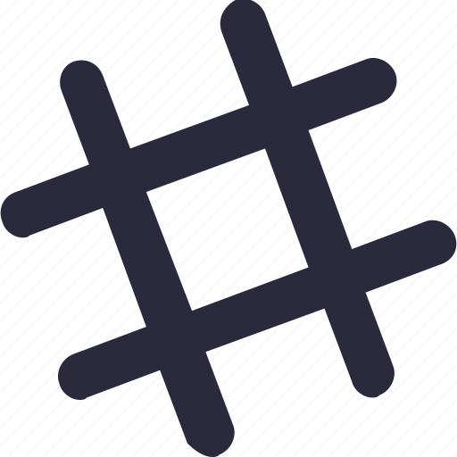 dial pad, hashtag, hex, math sign icon