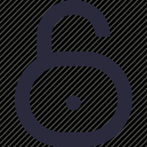 access, padlock, password, security, unlock icon