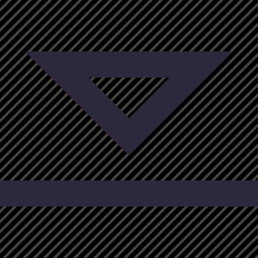 arrow, directional, down, down arrow, downward icon