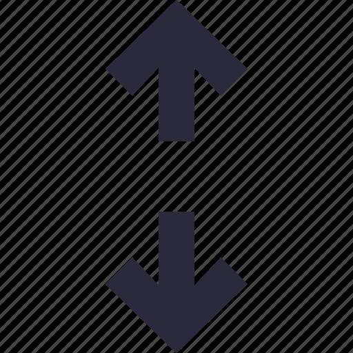 arrows, height, maximize, measurement, size icon