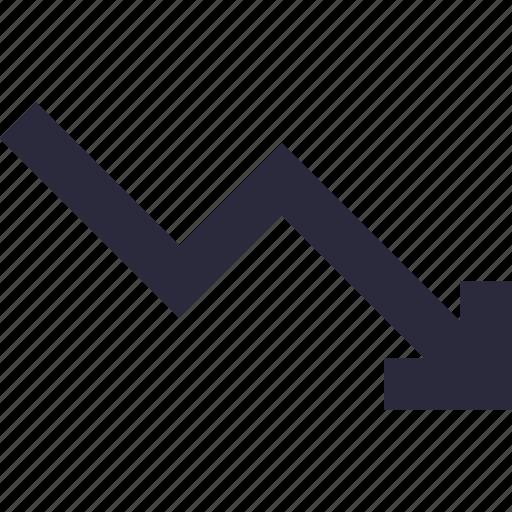 analytics, chart, descending, graph, loss icon