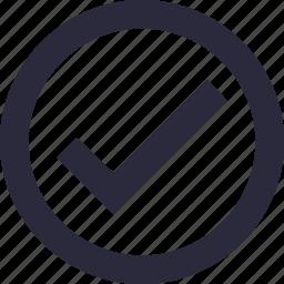 accept, approved, checkmark, tick, verify icon