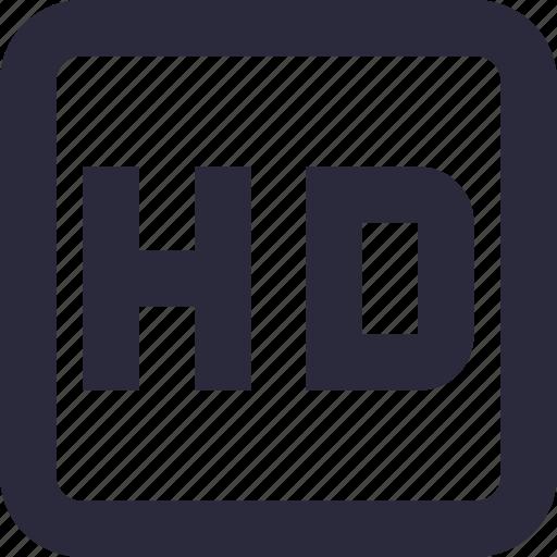 hd, hd movie, hd video, high defination, high quality icon