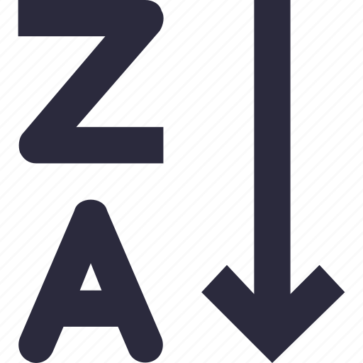 alphabetical order, alphabetically, alphabets, sorting, z to a icon