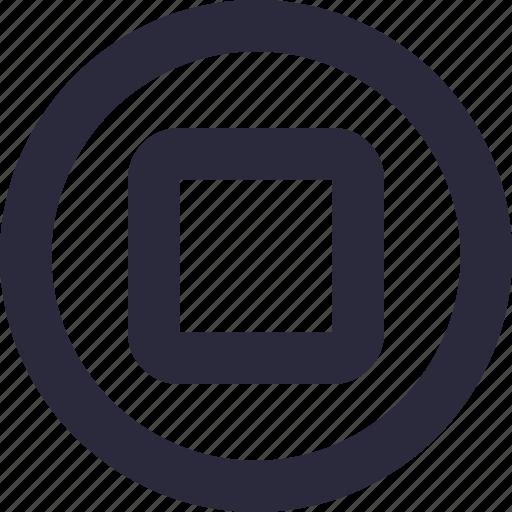 media, multimedia, recording, stop button, stop recording icon
