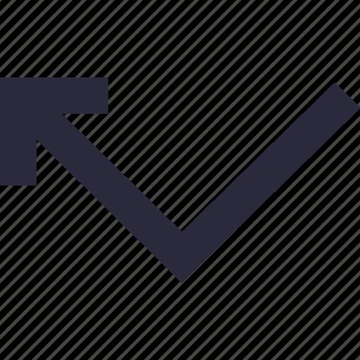 arrow, directional, left arrow, navigational, turn left icon