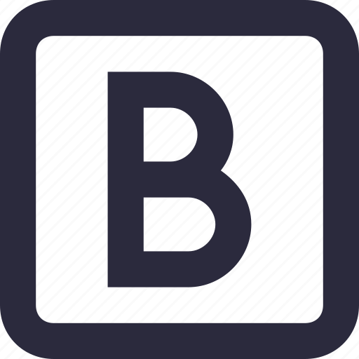 alphabet, bold, edit, letter b, text icon