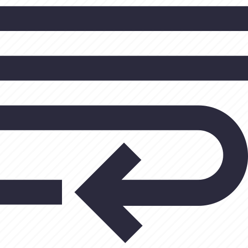 align left, alignment, indent, insert, text lines icon