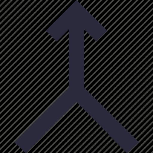 bifurcation road, left arrow, right arrow, road sign, traffic sign icon