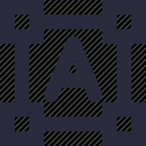 alphabet, edit tools, text box, text editor, text format icon