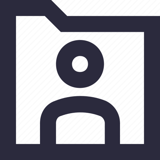 data storage, document folder, file storage, folder, user folder icon