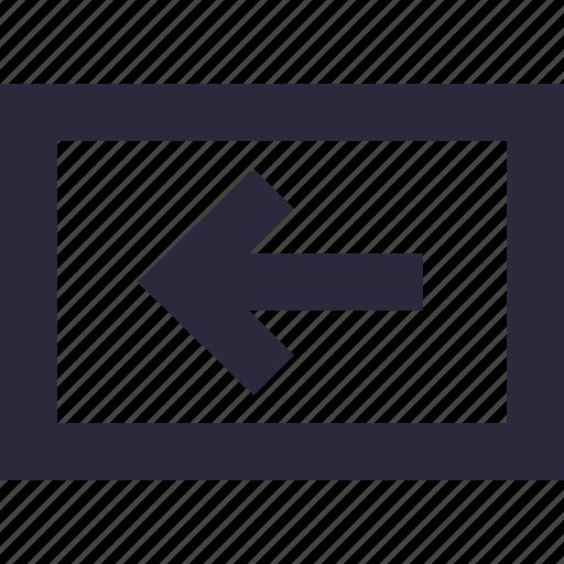 arrow, directional, left, left arrow, navigational icon