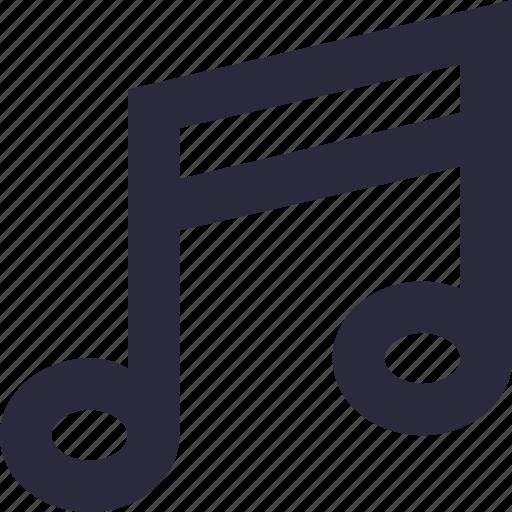 eighth note, lyrics, music, music note, quaver icon