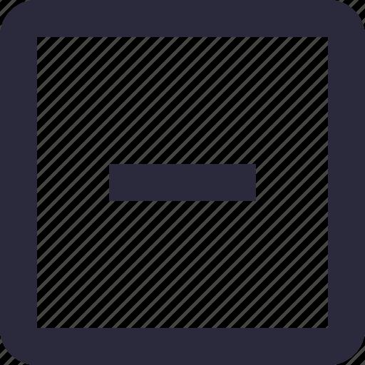block, cancel, math symbol, minus, subtraction icon