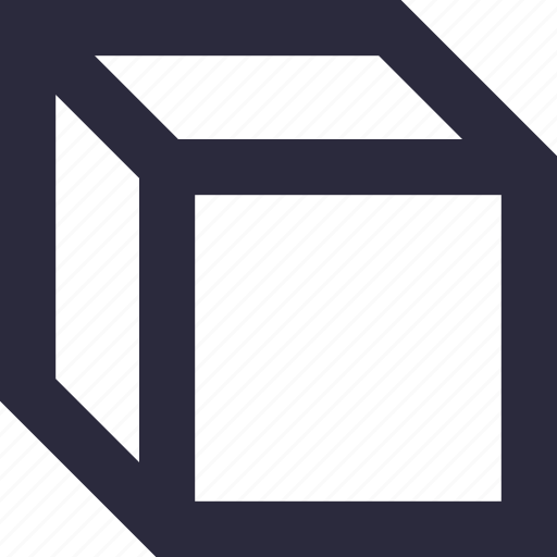 cube, design, geometrical, shape, square icon