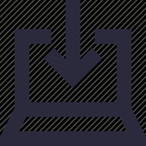 arrow, down arrow, download, download button, download tray icon