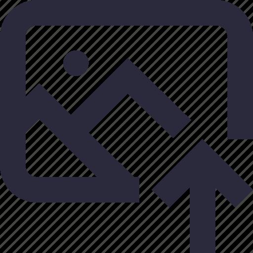 arrow, image, photo, upload photo, upload picture icon