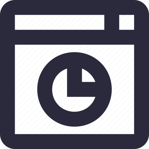 analytics, online graph, pie chart, pie graph, website icon
