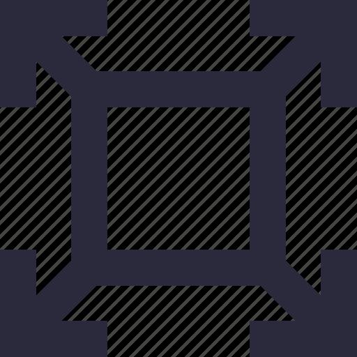 arrow, expand, maximize, resize, screen size icon