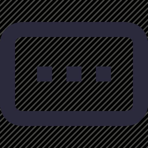 chat, ellipsis, loading, menu, more icon