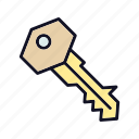 access, key, locked, protection, safe, safety, unlock icon