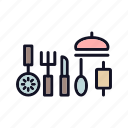 equipment, graphic, kitchen, knife, pot, tool, utensil icon