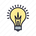 electricity, light, light-on, lightbulb, switch, table icon