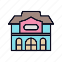 construction, furniture, house, lock, private, private-house, villa icon