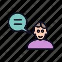 avatar, head, human, male, professor, professor-head, user icon