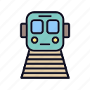 delivery, locomotive, logistic, railway, tracks, train, transportation icon
