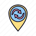 interface, maps, recycle, refresh, repeat, rotate, rotation icon